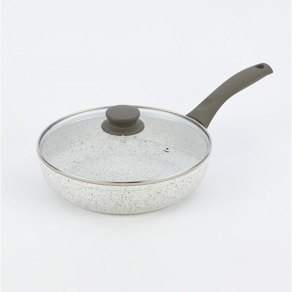 Pánev s pokličkou a šedou rukojetí Bisetti Grey, Ø24 cm