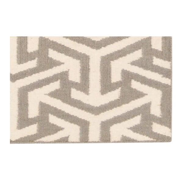 Vlněný koberec Bakero Kilim No. 305 Grey, 120x180cm