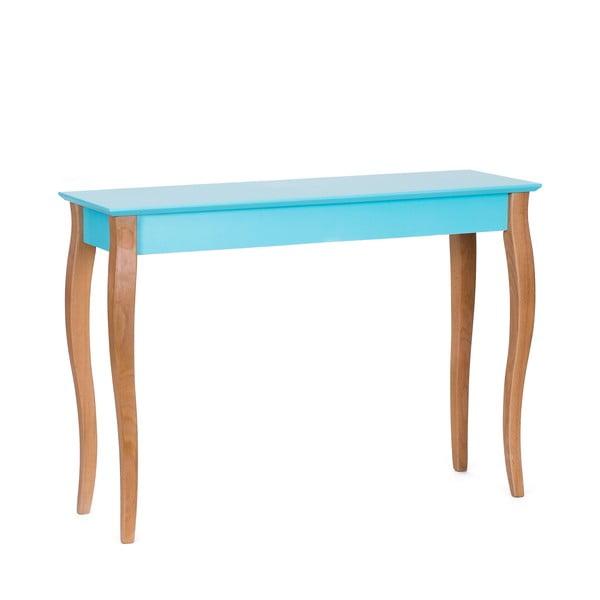 Console sötét türkiz kisasztal, 105 cm hosszú - Ragaba