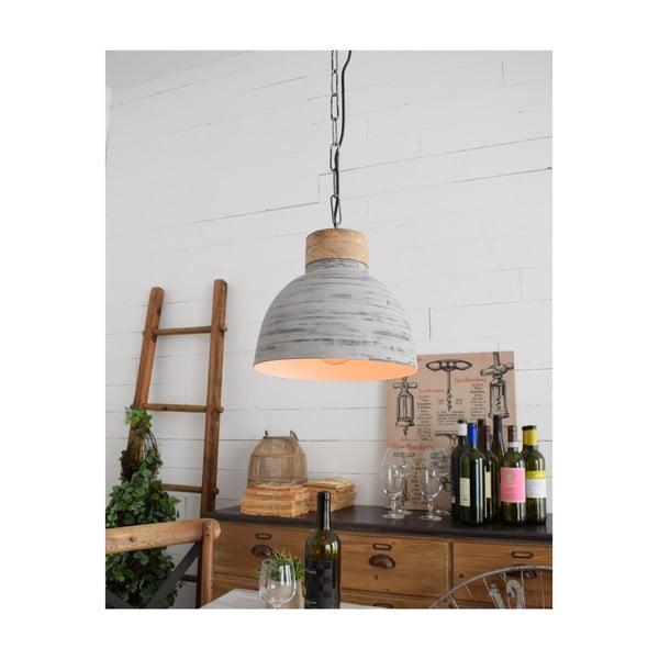 Svetlosivé stropné svietidlo Milano Old Factory, ø 30 cm