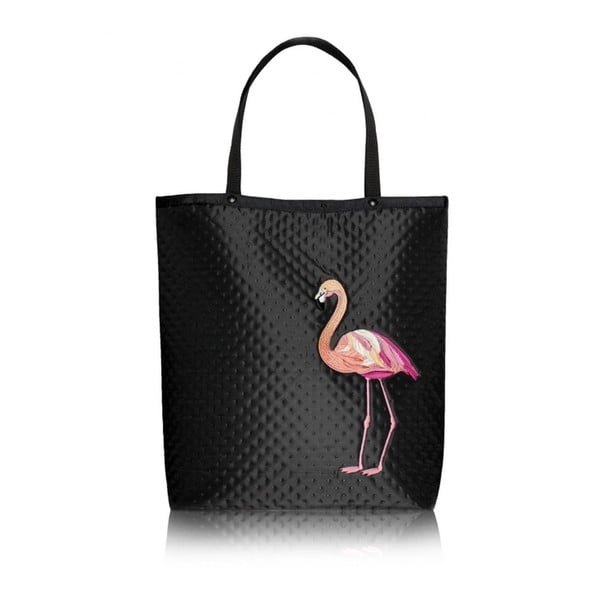 Shopper bag Plameňák, černá