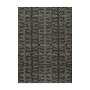 Černý koberec Nourison Baja Rallo, 290 x 201 cm