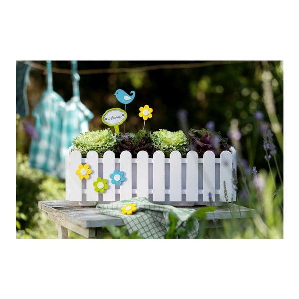 Květináč Window White, 50x20x16 cm