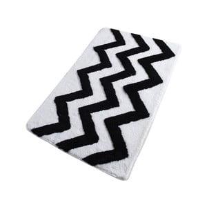 Černo-bílá koupelnová předložka Confetti Bathmats Zigzag, 60 x 100 cm