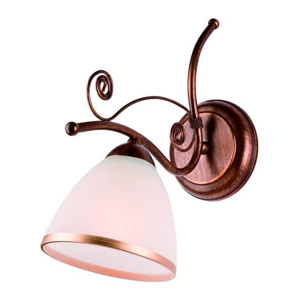 Bílo-hnědá nástěnná lampa Lamkur Retro