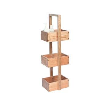 Suport din lemn pentru baie, Wireworks Caddy Mezza, înălțime 84 cm imagine