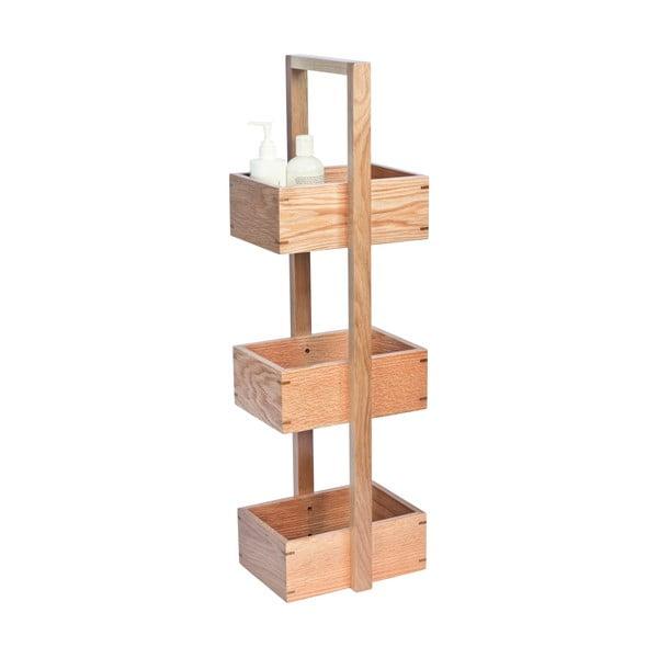 Dřevěný stojan do koupelny Wireworks Caddy Mezza, výška 84 cm