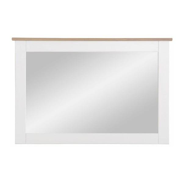 Oglindă cu ramă din lemn masiv de pin Støraa Cosmo, alb