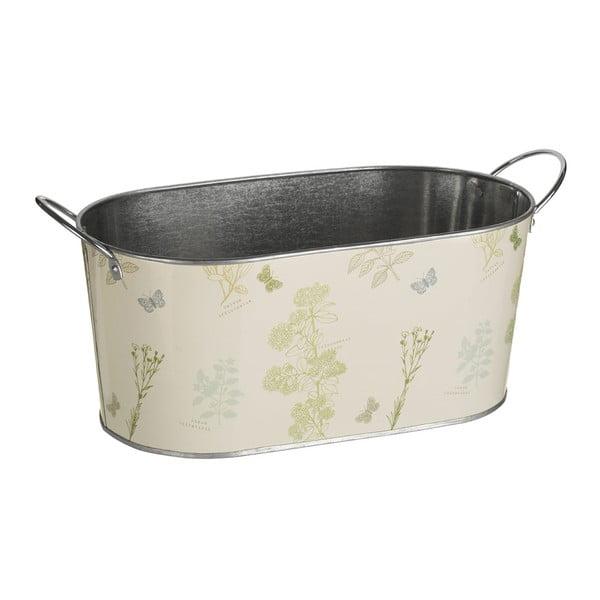 Jardin krémszínű ovális galvanizált acél virágláda, 4,4 l - Premier Housewares