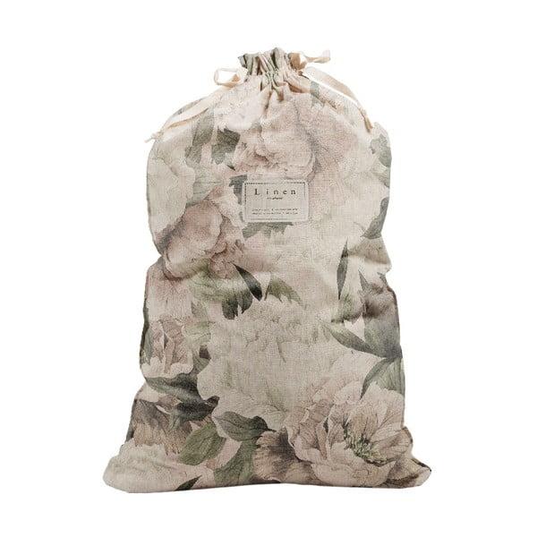 Bag Lily szövet és lenkeverék szennyestartó zsák, magasság 75 cm - Linen Couture