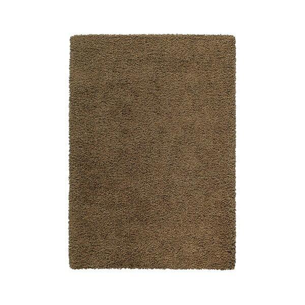 Koberec Premium Shaggy 120x170 cm s 5 cm dlouhým vlasem, hnědý