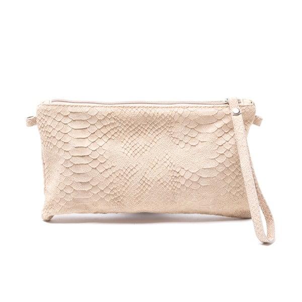 Kožená kabelka Carlita, šedohnědá