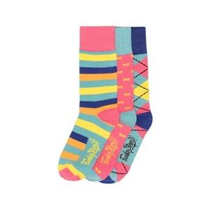 Sada 3 párů barevných ponožek Funky Steps Stripes, vel. 35-39
