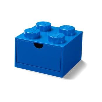 Cutie cu sertar pentru birou LEGO®, 15 x 16 cm, albastru imagine