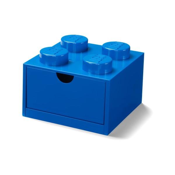 Niebieski pojemnik z szufladką LEGO®, 15x16 cm