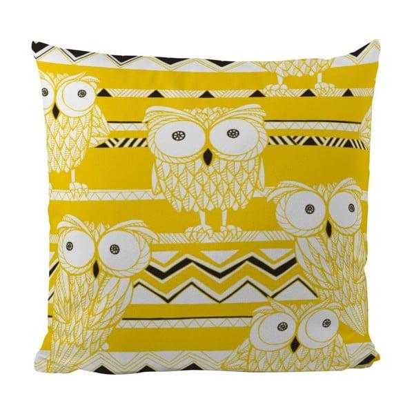 Polštář Yellow Owls, 50x50 cm