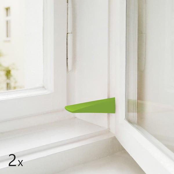Sada 2 dveřních/okenních zarážek, zelené