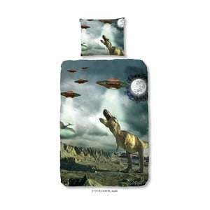 Lenjerie de pat din bumbac pentru copii Good Morning Jason, 140 x 200 cm