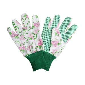 Bílé zahradnické rukavice Esschert Design Plaque