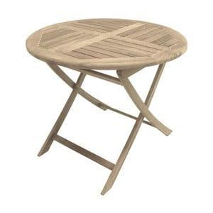 Masă pliantă de grădină din lemn de tec ADDU Solo, ⌀ 90 cm