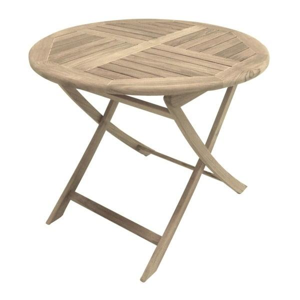 Solo összecsukható teakfa kerti asztal, ⌀ 90 cm - ADDU