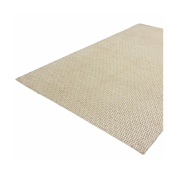 Ručně tkaný koberec Kilim Beige Black, 160x230 cm