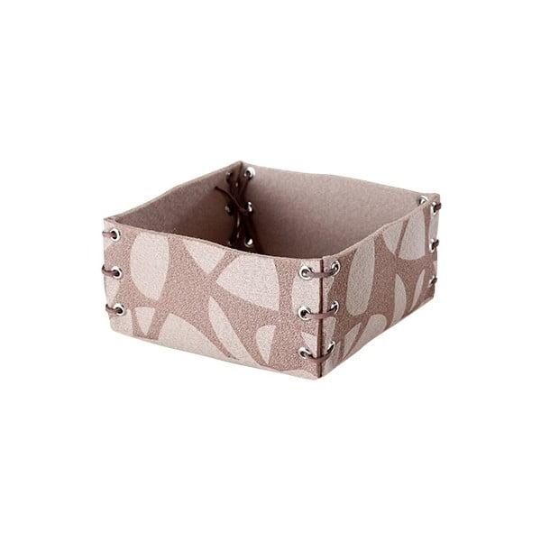 Plstěná krabička 25x10 cm, béžová