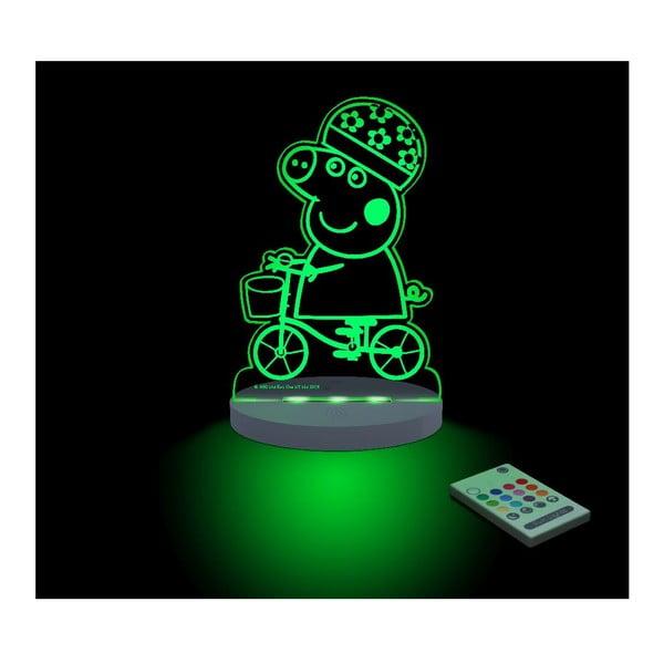 Dětské LED noční světýlko Peppa Pig Bici