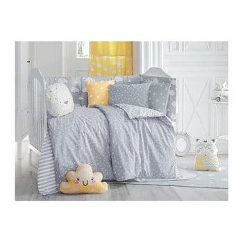 Lenjerie de pat cu cearceaf pentru copii Apolena Carino, 90 x 120 cm, gri