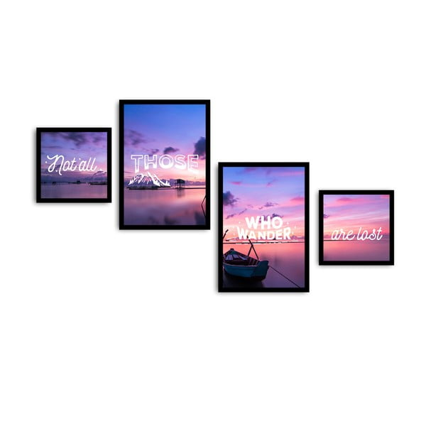 Zestaw 4 obrazów Alpyros Pahlio
