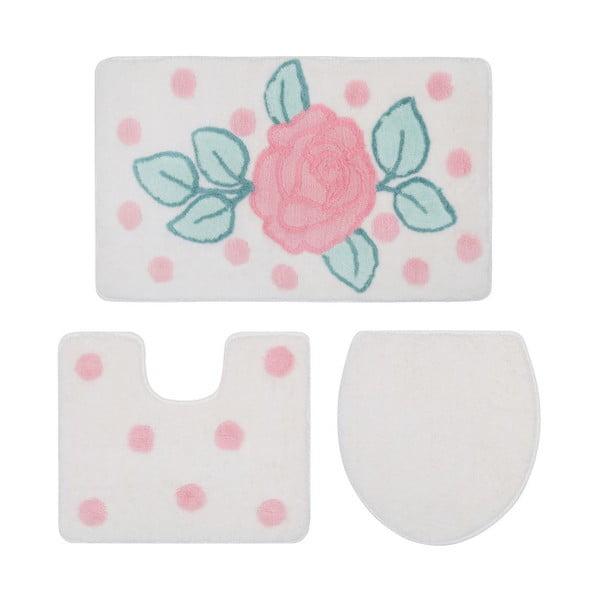Set 2 koupelnových předložek a povlaku na záchodové prkénko Confetti Biblos