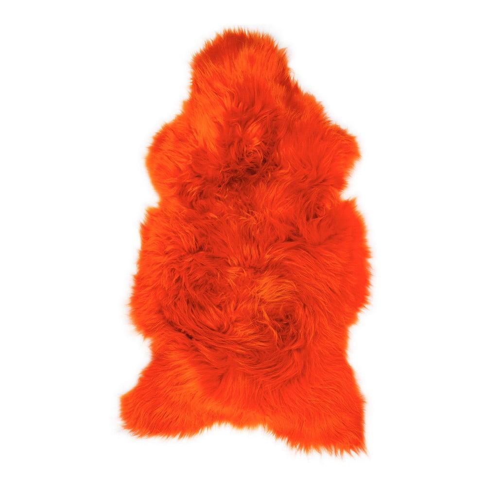 Oranžová ovčí kožešina Swedo, 110 x 60 cm