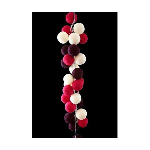 Světelný řetěz Cherry Pop, 50 ks světýlek