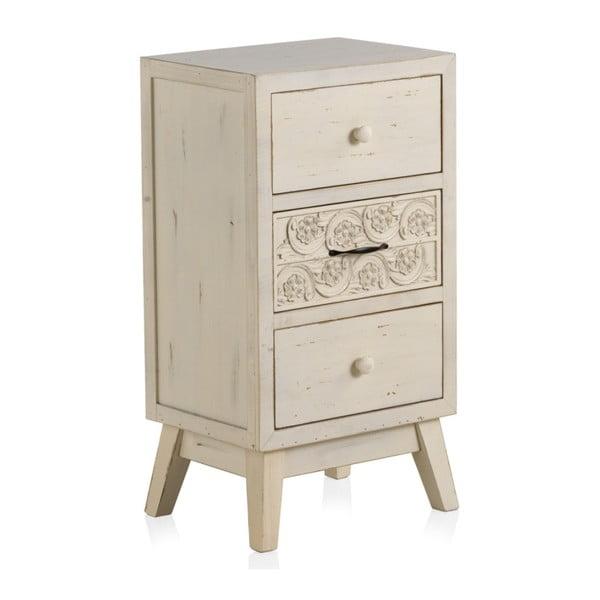 Drewniana szafka nocka z 3 szufladami Geese Lorelai