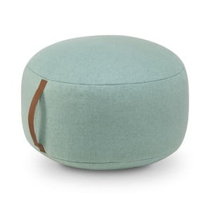 Tyrkysový bavlněný sedací puf HF Living Round, ⌀50cm