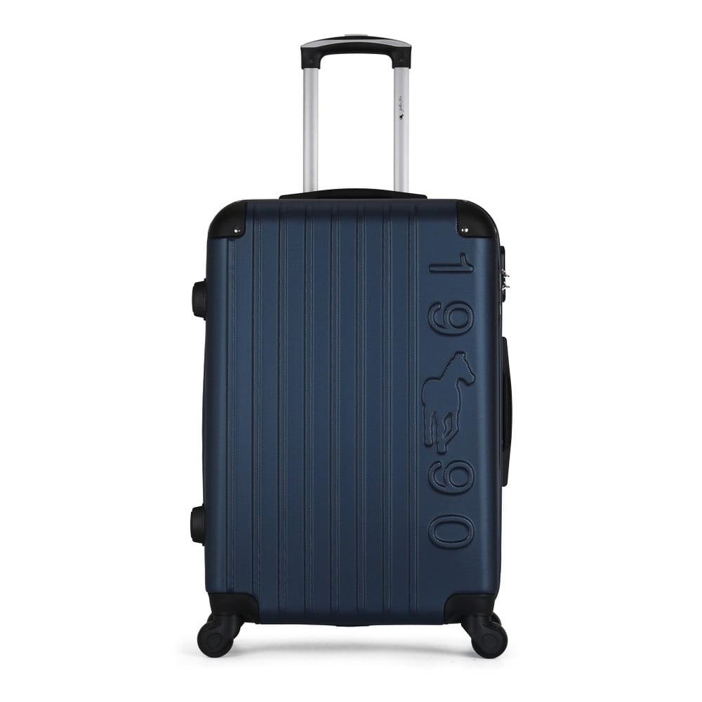 Tmavě modrý cestovní kufr na kolečkách GENTLEMAN FARMER Valise Grand Cadenas Integre Malo, 45 x 65 cm