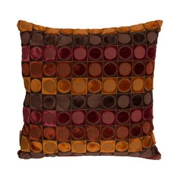 Pernă Dutchbone Ottava, 45 x 45 cm, roşu – portocaliu de la Dutchbone