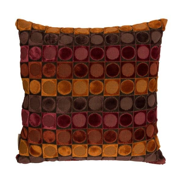 Pernă Dutchbone Ottava, 45 x 45 cm, roşu - portocaliu