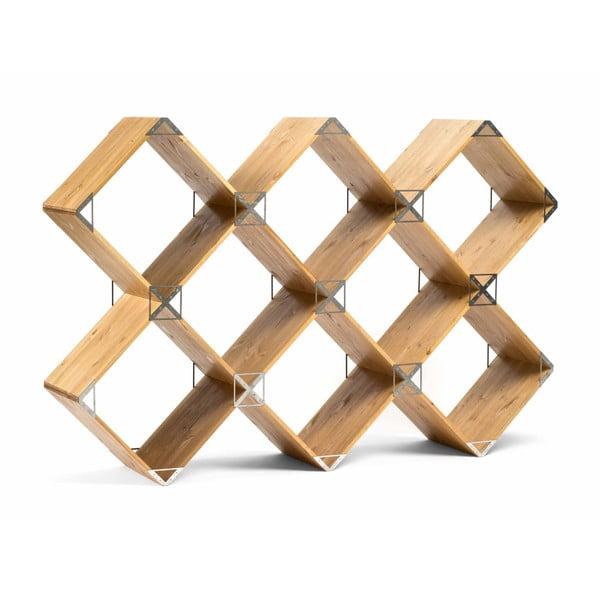 Kubik polcos szekrény, szürke részletekkel - Askala
