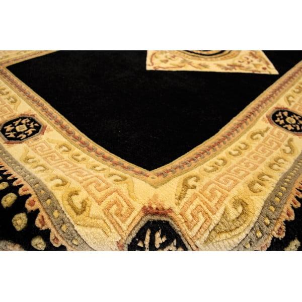 Vlněný koberec Bakero Vanilla/Black, 90x160 cm