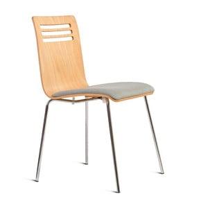 Židle se sedákem z dubového dřeva Charlie Pommier Comfort