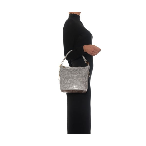 Kožená kabelka Amalia, tmavě šedá