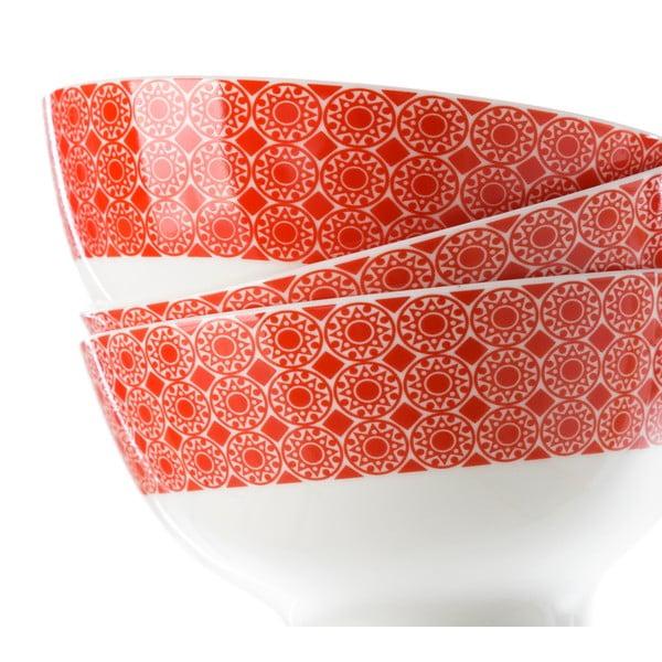 Sada 6 červených porcelánových misek Unimasa Mandall