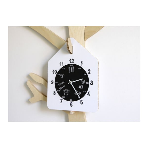 Bílé hodiny Unlimited Design for kids