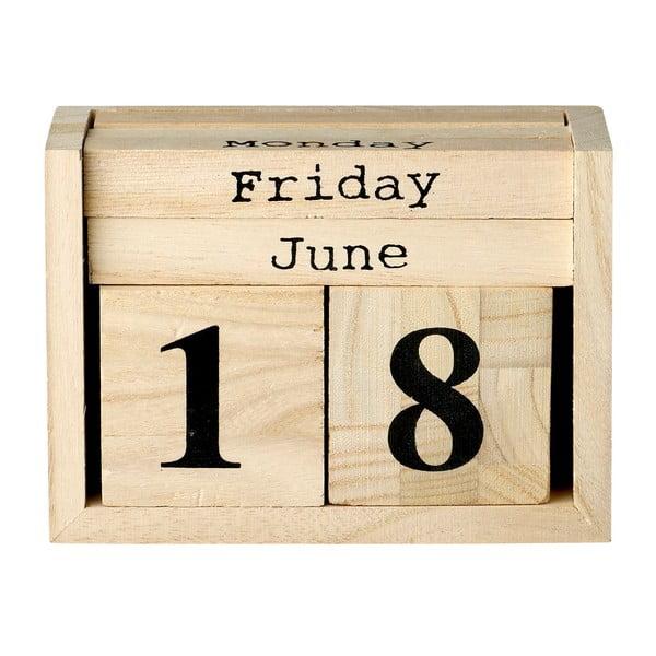 Calendar naptár fából - Bloomingville