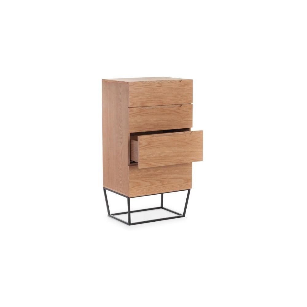 Skříňka ze dřeva a kovu Ángel Cedrá Notio