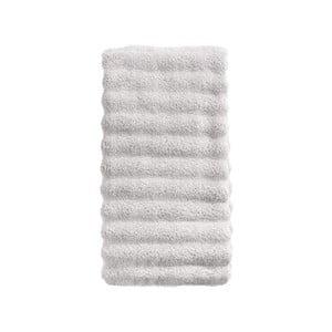 Světle šedý bavlněný ručník Zone Prime, 50 x 100 cm