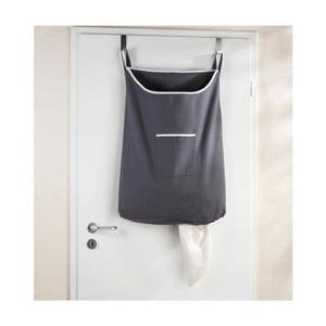 Šedý závěsný koš na prádlo Wenko Door Laundry, 65 l