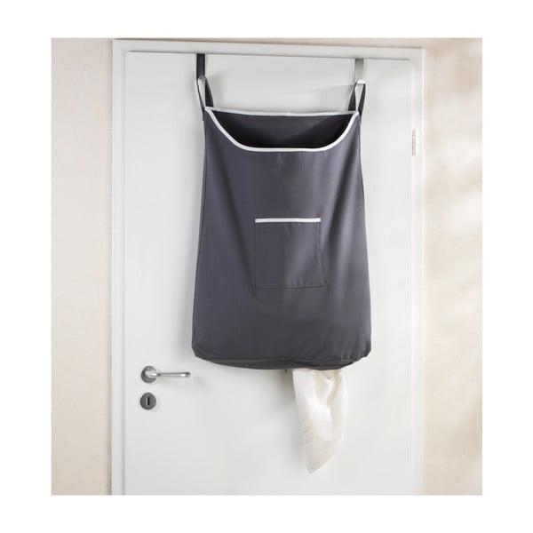 Laundry szürke felakasztható szennyestartó kosár, 65 l - Wenko