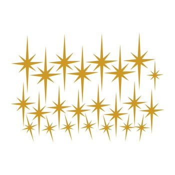 Set 23 de autocolante de perete Stars